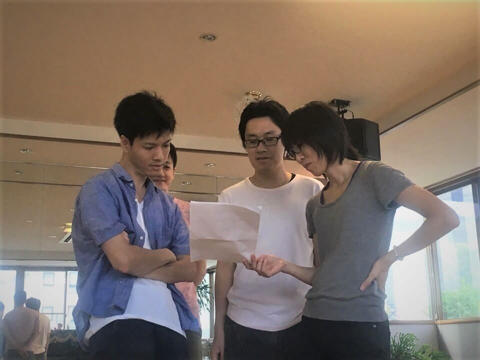 りょうたとソルティーさん、翔さん、飯村君