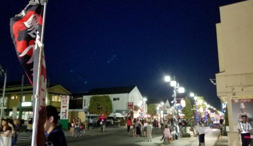 祭りの屋台からの風景