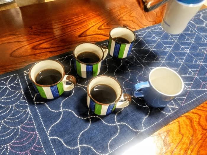 本拠地でコーヒー